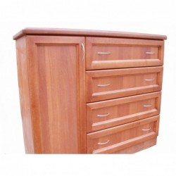 Комод (4 ящика, дверца)