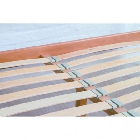 Деревянная кровать «Милена с интарсией»