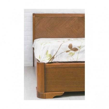 Деревянная кровать «Милена с интарсией с подъемным механизмом»