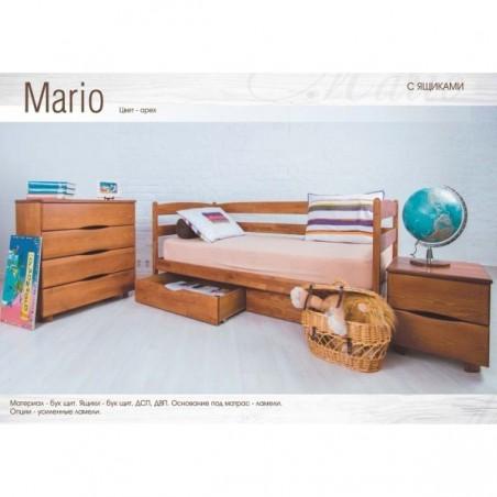 Детская деревянная кровать «Марио» с ящиками