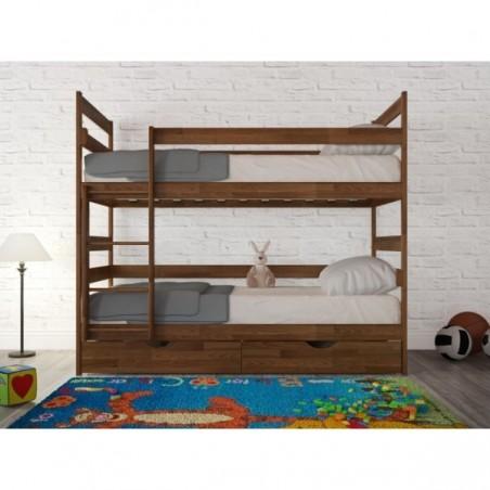 Детская двухъярусная деревянная кровать «Ясна»