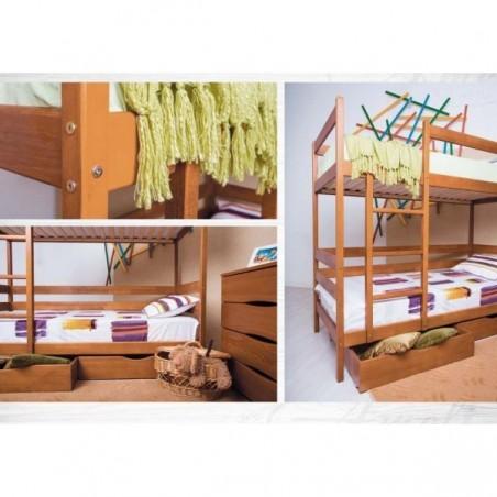 Детская двухъярусная деревянная кровать «Амели»