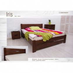 Дерев'яне ліжко «Айріс (Iris)»