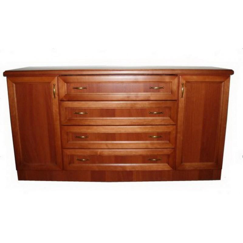 Деревянный комод 4 ящика 2 двери